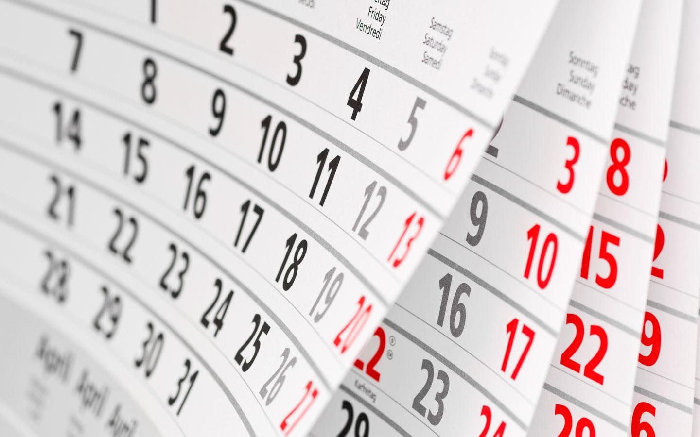 2020. aasta kalendaarne tööajafond